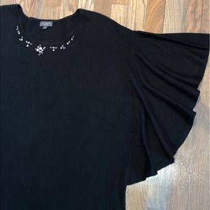 The Limited Collection Black Jeweled Kimono 3X
